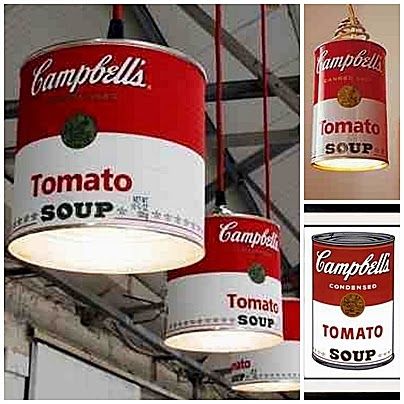 Lampa Campbell's Soup Pop art recykling