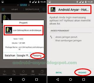 Cara install aplikasi hasil buatan sendiri di Android