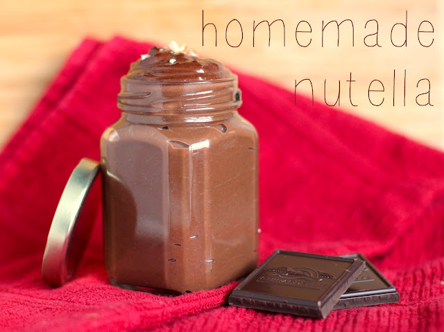 Healthy Homemade Nutella, from Homemade Hazelnut Butter