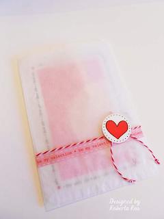 SRM Stickers Blog - Valentine Treats by Roberta - #cards #mini card #Valentine #Twine #stickers #glassing bag