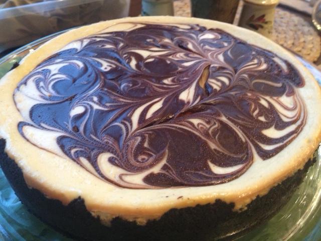 ... ... Bake... Love...: Bailey's Irish Cream Chocolate Swirl Cheesecake