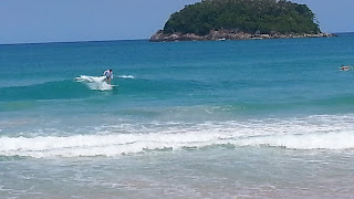 Surfing at Kata Beach