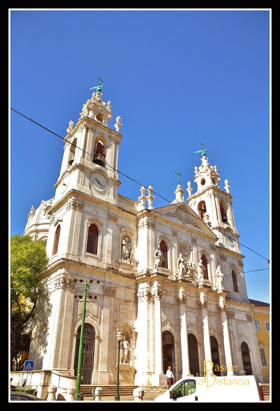 Monumentos de Lisboa Fachada Basílica da Estrela Portugal Viajes