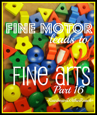 photo of: Fine Motor Leads to Fine Arts (continuing series on fine motor development) 