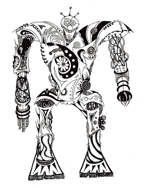 Dessins Fantastiques - Page 2 Robot+extra-terrestre