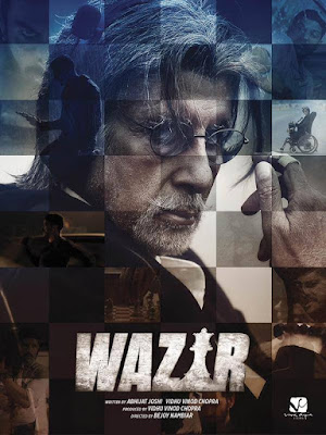 Upcoming Bollywood movie  WAZIR firstlook Poster