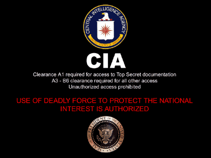 The United States of America Centrail Intelligence Agency God Bless America