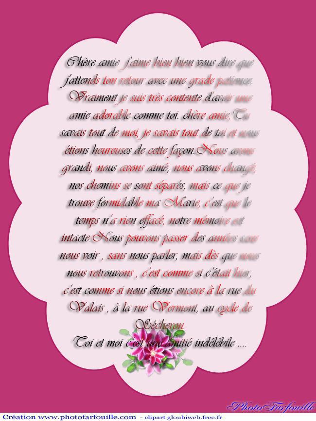 Texte Pour Une Amie Une Lettre Pour Une Amie
