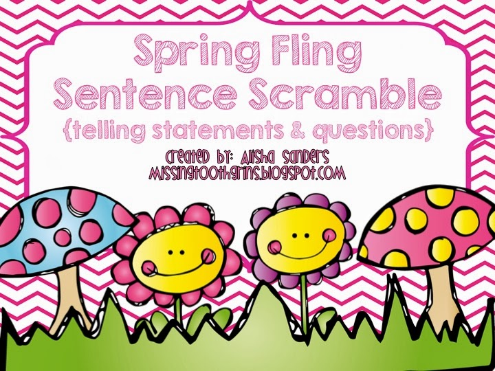 http://www.teacherspayteachers.com/Product/Spring-Sentence-Scramble-Telling-Statements-Questions-1115870