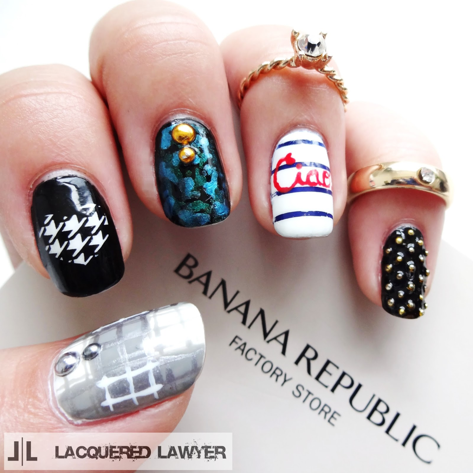 Banana Republic Factory Store Nail Art