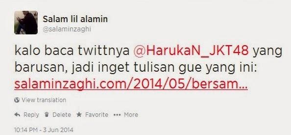 salaminzaghi salam lil alamin twitter haruka jkt48