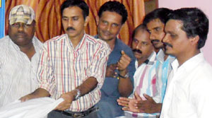 Press club president Vinod Chandran, Kasaragod
