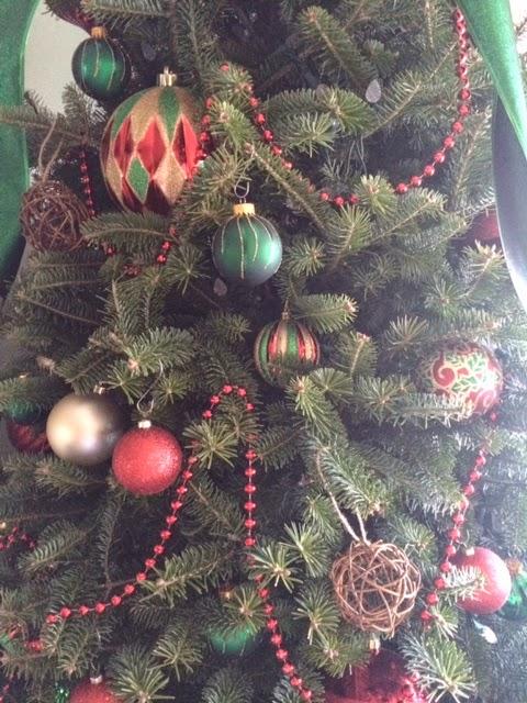 festive christmas tree