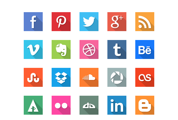 icon social flat