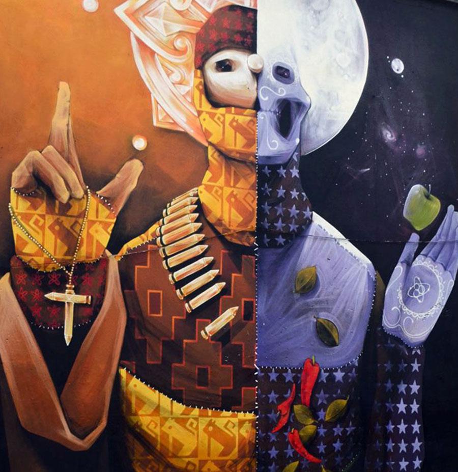 Inti new mural in santiago chile streetartnews for Mural metro u de chile