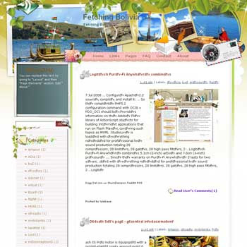 Fetching Bolivia Blogger Template. free download template blogspot