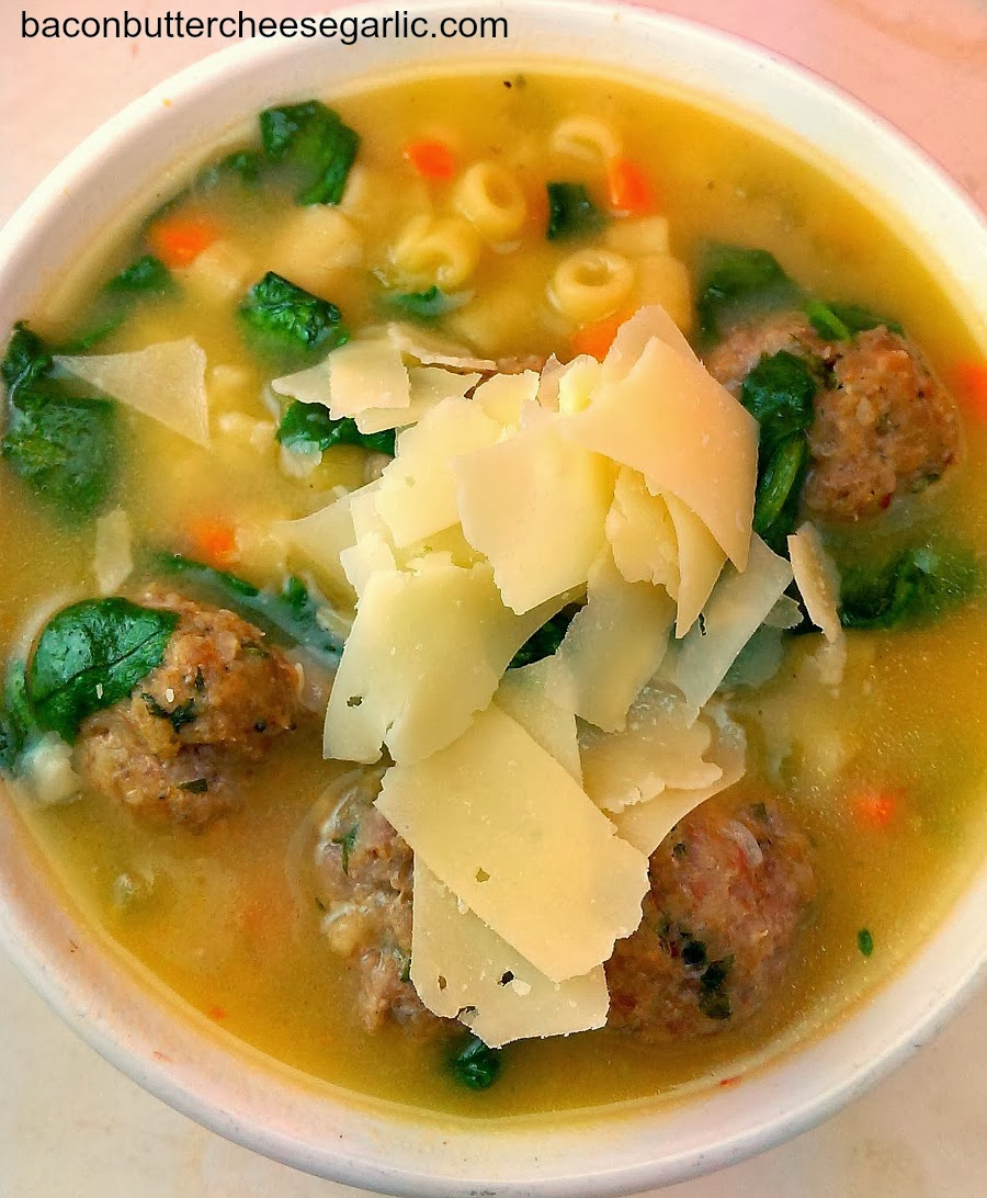 Easy Italian Wedding Soup Recipe: Bacon, Butter, Cheese & Garlic: Not Just For Weddings