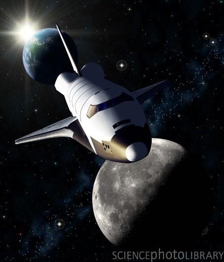last space shuttle moon - photo #9