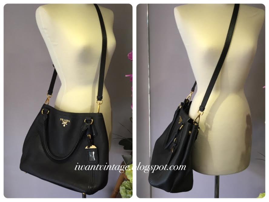 I Want Vintage | Vintage Designer Handbags: Prada BN2534 Vitello ...