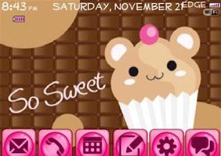Teddy+Cupcake Teddy Cupcake BlackBerry Curve 8900 Themes