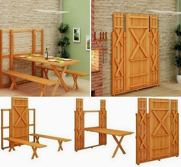 Fold Up Kitchen Table: Ideas & Products: Fold Down Picnic Table