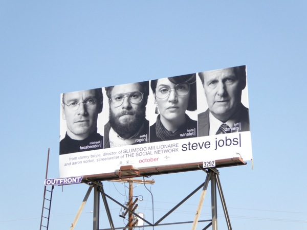 Steve Jobs movie billboard