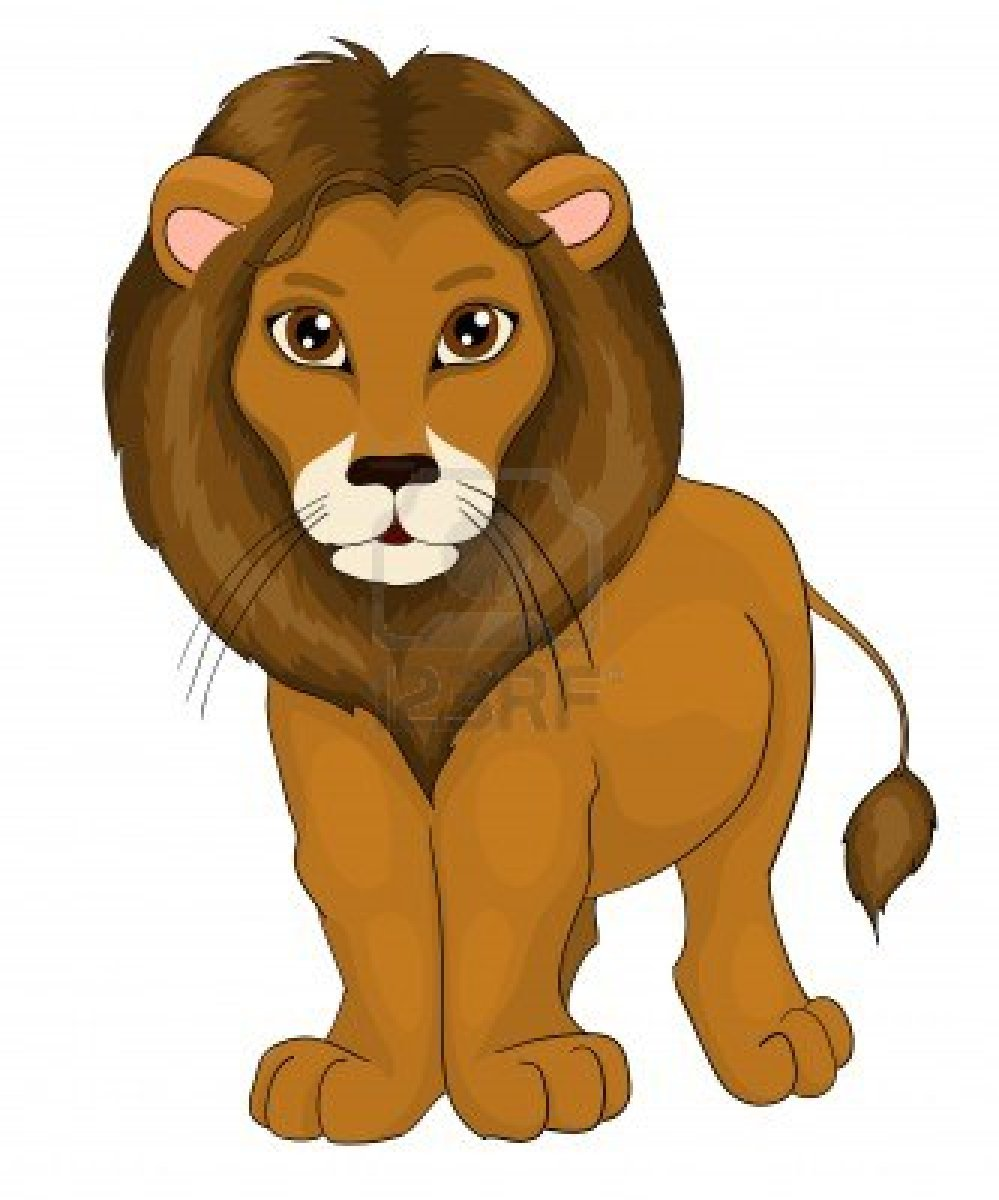 Lion Drawing Color For Kids