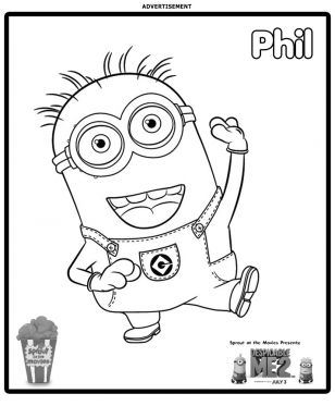 For Kid Despicable Me 2 Coloring Pages Minion Banana