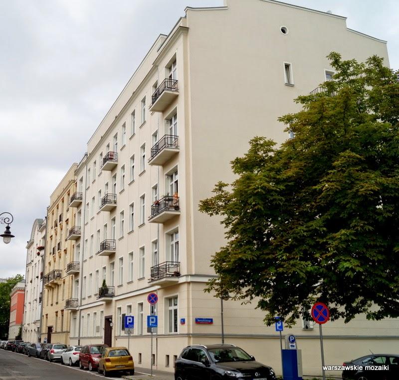 Warszawa Śródmieście ulica willa pałacyk kamienica ambasada poeci pisarze