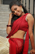 Chaithra setti sizzling in half saree-thumbnail-20