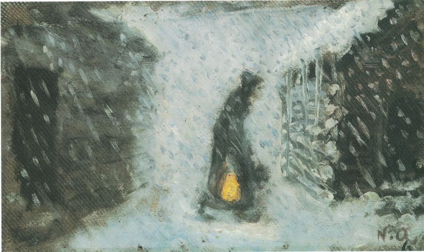 'Kjerringa Med Lykta' or 'Old Woman With Lantern.' Image: WikiMedia.org.