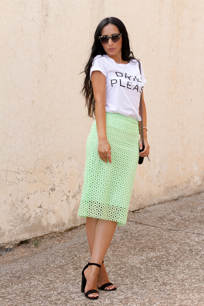 Green Guipure Moda Skirt Or Shoes Without Blog Xxtfzz Influencer With 5j4ARL