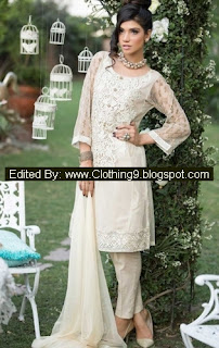 Maria B Stitched Formal Dresses for Eid 2015-16