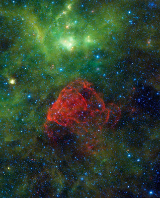 A rose seen in space - a star ending its life