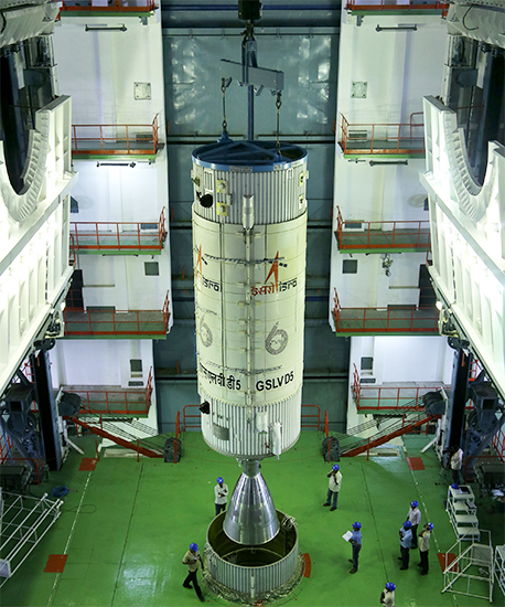 Hoisting of GSLV-D5 Second Stage