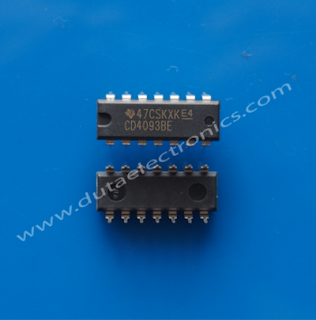 Toko Komponen Elektronik , Jual IC CD4093BE (DIP-14 PIN)