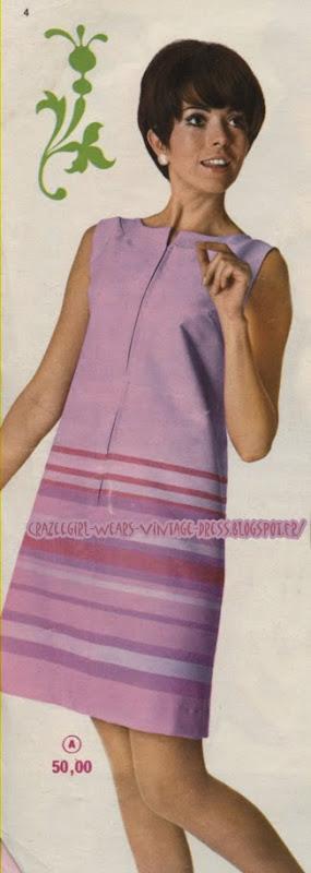 magasin Decré dress - 1968 60s 1960 Nantes