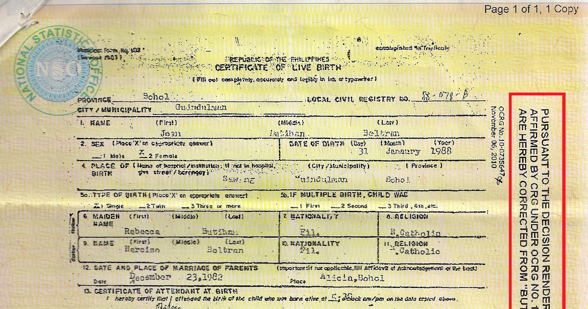 awesome incorrect birth certificate collection online