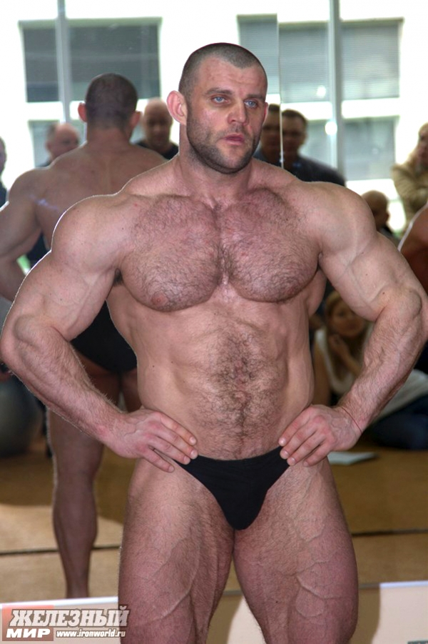 Muscle hairy male naked