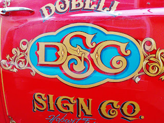 Hand Painted Traditional Signwriters Australia, Gold Leaf, Truck Scroll Work Dobell Signs Sydney New South Wales Australia