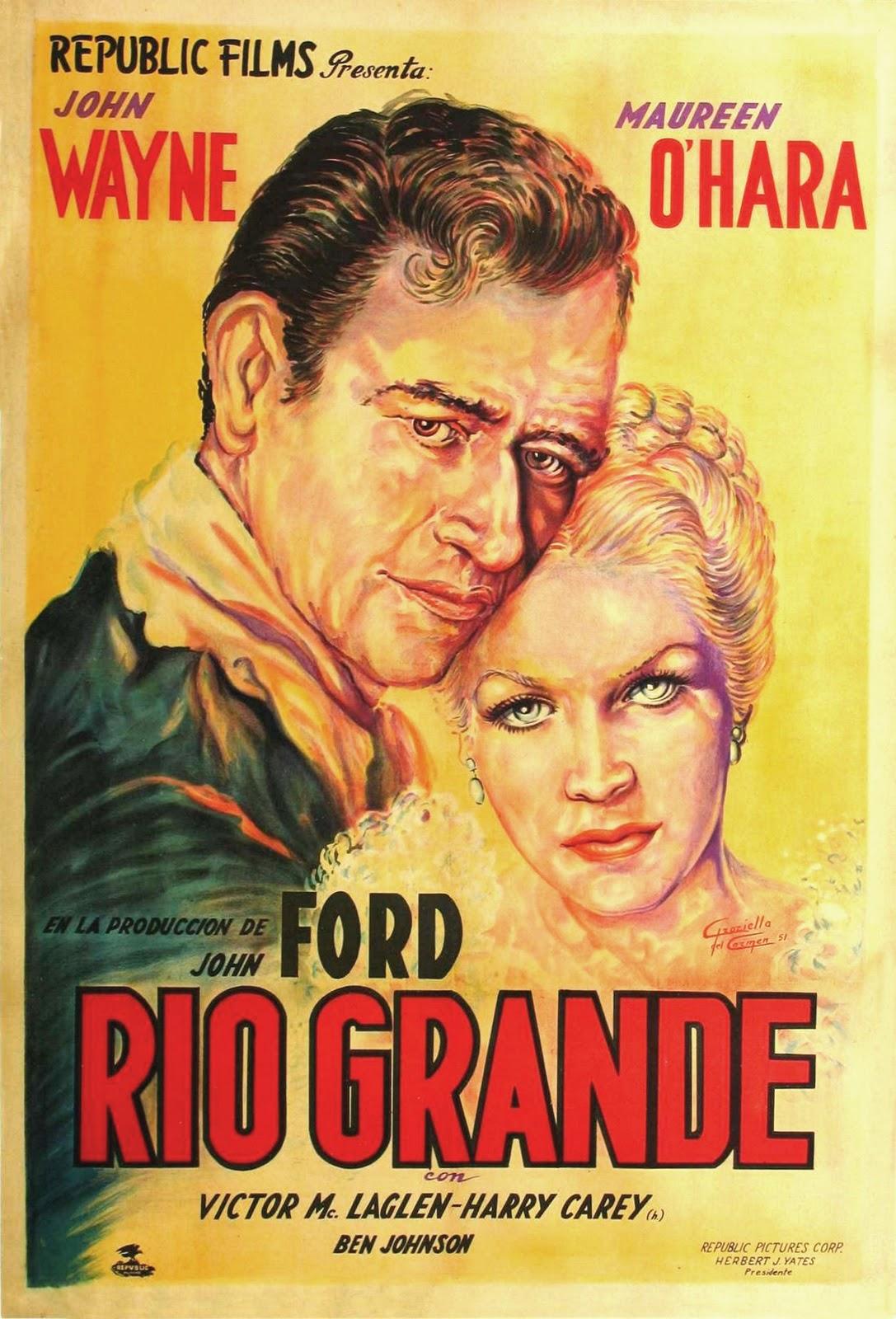 rio grande 1950 cine afiches