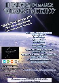 """26 ENERO 2013 - III SIMPOSIUM """"ENIGMAS Y MISTERIOS"""" - CON LA PONENCIA DE VIRGINIA DANGMA"""