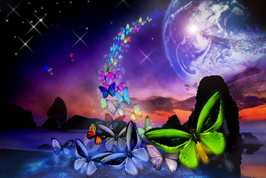 Il rifugio degli elfi intervallo con farfalle fantasy for Sfondi cavalli gratis