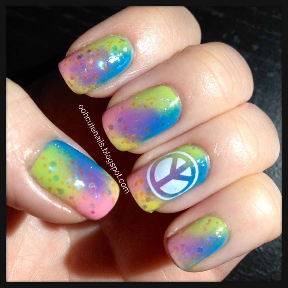 Ooh, Cute Nails!: Tie Dye Nails + Stamping
