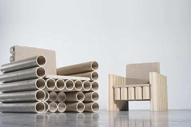 DE ARQUITECTURA Muebles de cartón, una alternativa de reciclaje