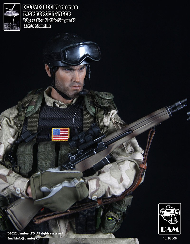 1//6 scale toy US Airborne Rangers Black Goggles