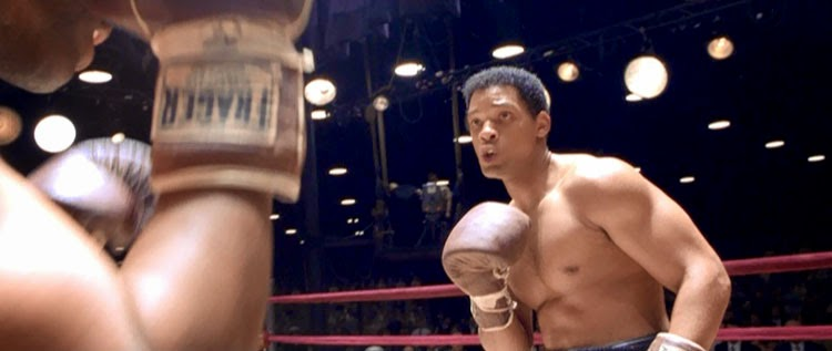 Will Smith's Ali battles Sonny Liston for the heavyweight title.