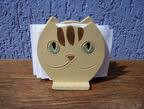 Gato Porta Guardanapo