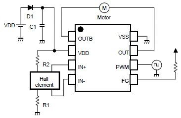 wiring diagram reference nju7365 single phase dc brushless motor