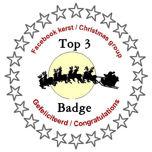 In top 3 Kerst/Christmaschallenge september